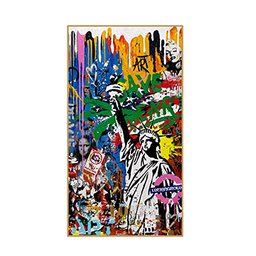 Pintura clásica Liberty pintura abstracta de graffiti sobre lienzo arte carteles de pared e impresiones cuadros arte callejero en la sala de estar-60x120 cm x1 sin marco