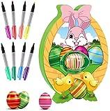 NA# Decoratore di Uova di Pasqua,Macchina per dipingere Le Uova di Pasqua Fai-da-Te con Spinner, Include 8 Pennarelli Colorati Ad Asciugatura Rapida & 3 Uova di Plastica, Giocattoli per Bambini