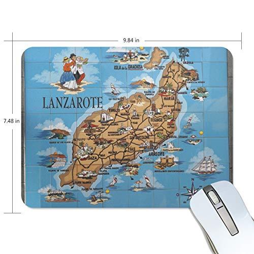 DEZIRO Lanzarote Gaming Muis Kaart Pad met Nonslip Base Dik, Comfy, Waterdichte & Opvouwbare Mat voor Desktop, Laptop
