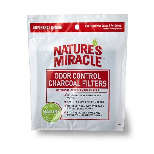 Natures Miracle Odor Control Universal Charcoal Filter, 6-Pack