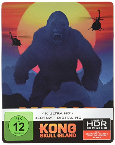 Kong: Skull Island (4K Ultra HD + 2D-Blu-ray) (2-Disc Version) (Steelbook) [Blu-ray] [Limited Edition]