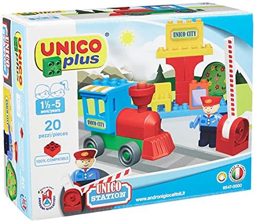 Unico City 8547 - Juego de construcción de estación de Tren (20 Piezas, tamaño pequeño)
