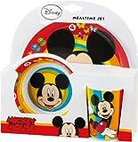 Mickey Maus Kinder Teller + Schale + Tasse Mickey Mouse Frühstück Set