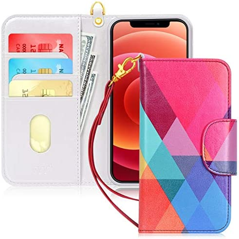 FYY Case Compatible for iPhone 12 iPhone 12 Pro 5G 6 1 Kickstand Feature Luxury PU Leather Wallet product image