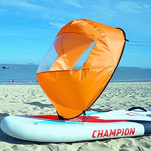 Idefair Vela de sotavento,Kayak Wind Vela Canoa Velas de sotavento Kit de Vela instantánea de Paleta Plegable Vela de Bote de remos con Ventana Transparente Kayak Canoa Accesorios