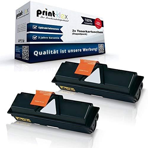 2x Kompatible Tonerkartuschen für Kyocera FS 1120 D FS 1120 DN FS 1320 DN FS 1120 Series 1T02LY0NL0 TK160 TK-160 TK 160 Black Schwarz - Office Pro Serie