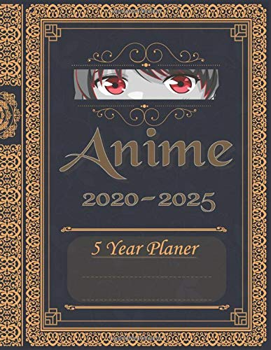 Anime 2020 - 2025, 5 Year Planer: 5 year planner and calendar, inspired by anime, manga and Japanese art. 8,5' x 11' (approx. A4) With calendar pages, ... pleasant format. Great gift for anime lovers.