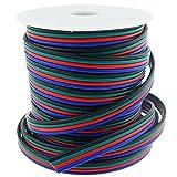 LTRGBW 40FT Calibre 18 Tira del RGB LED Cable de Extensión de 18 AWG de 4 Pines 4 Color del Soporte del Cable Conductor para SMD 5050 3528 Lámpara de la Cinta RGB LED de Iluminación de la Cinta