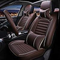 JINRYIGK カーシートカバーMG ZS MG7 MG3MG5 MG6カーシートプロテクターカーアクセサリー用ユニバーサルカーシートカバー、コーヒーには枕があります