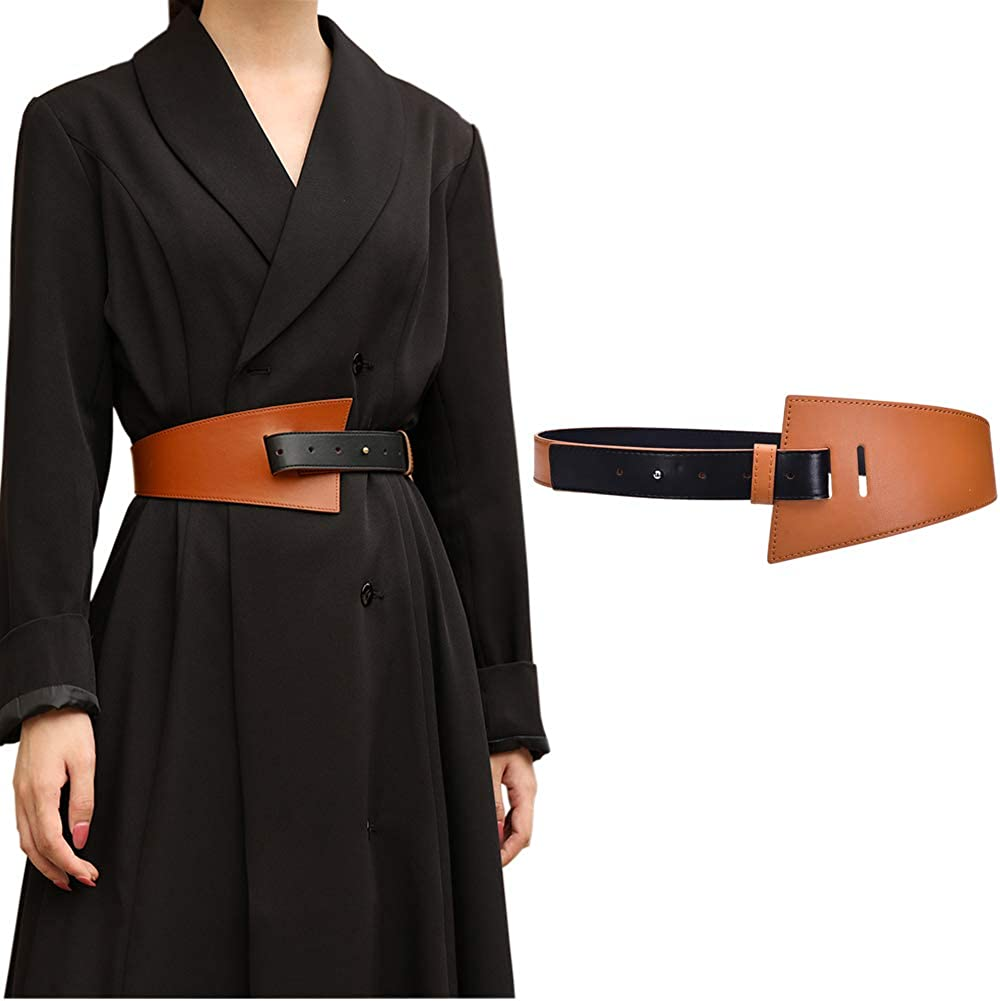 Women's Leather Belt Dress Long Beach Mall Belts Max 81% OFF Adjustable for women Coat