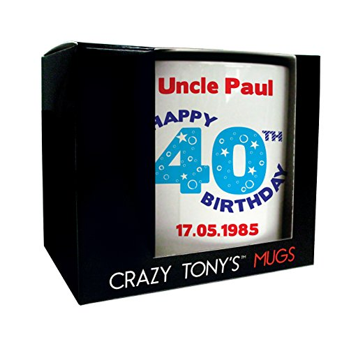 Mens Personalised Happy 40th Birthday Mug Gift Idea for Dad Husband Uncle...