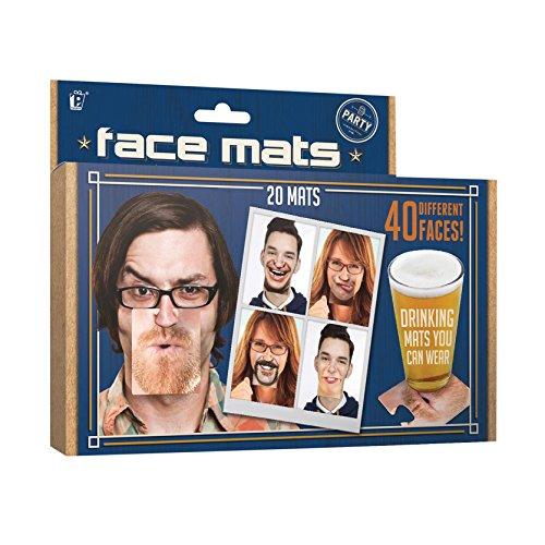 Party Untersetzer Gesicht, aus Pappe im 20-tlg. Set