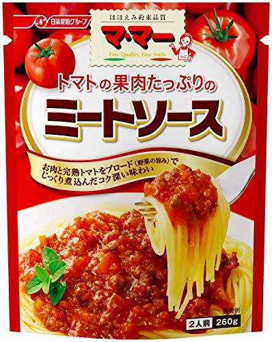 日清 ママー トマトの果肉たっぷりのミートソース 2人前 袋260g [4322]