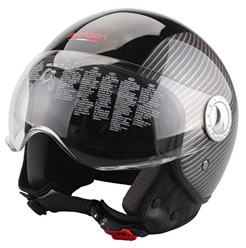 Guardian 320/S Casco Demi Jet, Carbon Look, S