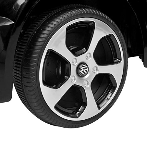 RC Auto kaufen Kinderauto Bild 4: SENLUOWX Kinderauto Elektroauto VW Golf GTI 7 schwarz 12 V Kinderfahrzeug Kinderauto mit Fernbedienung*