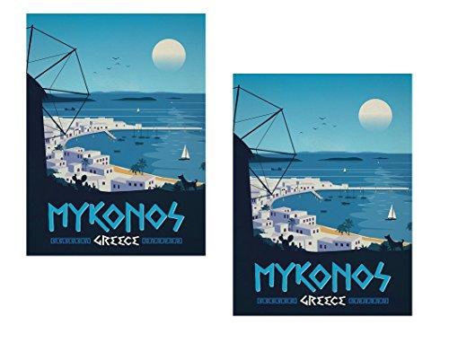 Schipper 609450797 Mykonos Malen nach Zahlen Polyptychon 132 x 72cm Griechenland