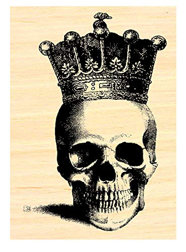 P35 Skull with Crown Rubber Stamp