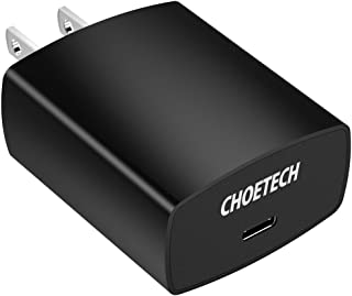 USB C Charger, CHOETECH 18W USB Type C Wall Charger Power Delivery Compatible with iPhone Xs XS Max XR iPhone X 8 8 Plus,Samsung Galaxy S9/ S8 Plus, Pixel 2/Pixel, Nintendo Switch, Nexus 5x/6p