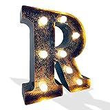 Crack Hogar Letra de Metal con Luces LED - 17.5x5x20 cm - Disponible el Alfabeto...