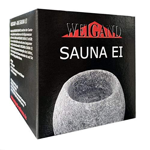 Weigands Sauna-Ei aus Speckstein I Kleiner Tiegel um ihn zwischen die Saunasteine zu stellen I Saunabrunnen I Entspannt die Sinne I Saunazubehör I Zubehör I Geschenk Geburtstag Weihnachten
