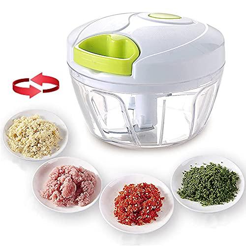 Hachoir manuel multifonction, mixeur à main pour la maison, la cuisine, les légumes, les oignons, les légumes, la viande, les fruits, la salade, l ail, les noix, les herbes, etc.