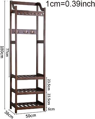 Amazon.com: LJHA Yimaojia - Perchero de madera maciza con ...