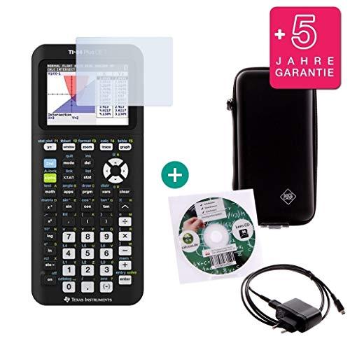 Streberpaket: TI-84 Plus CE-T + Schutztasche + Lern-CD (auf Deutsch) + Ladekabel + Erweiterte Garantie + Displayschutzfolie