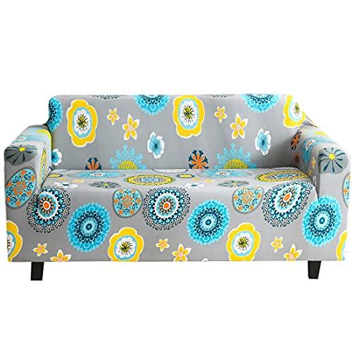 ASCV Funda de sofá Floral elástica con Todo Incluido Funda de sofá Funda de sofá con diseño de Ciervos navideños Funda de protección para Muebles Funda de sofá A1 2 plazas