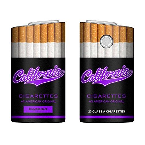 CaseMarket glo グロー ケース 専用 PUレザー プリント ハードケース タバコ パロディ パッケージ 4385 パープル 電子タバコ 保護 カバー