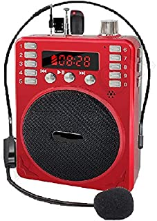 SaleOn™ Rechargeable Multimedia Speaker with Wired Microphone Loudspeaker Headset for Teacher Guider Trainer and FM Radio ...