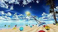 40x50CM 5D DIYダイヤモンドペインティングキット大人用 ビーチ海辺の風景 フルドリルダイヤモンドペインティングキットラウンドクリスタルダイヤモンドアートキット大人用ギフト家の壁の装飾刺しゅうキット