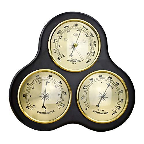WT-DDJJK El barómetro, estación meteorológica Tradicional, barómetro con termómetro e higrómetro sin rebozado