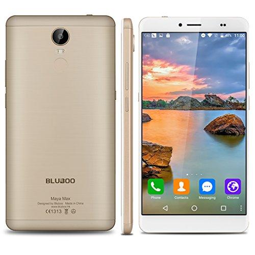 Bluboo.Maya.Max - 32Gb Smartphone Libre Android 6.0 (4G, Lte, Pantalla 6.0\', 3Gb de Ram, Camara 13 Mp, Octa-Core 1.5Ghz, Dual Sim, Sensor de Huellas Dactilares, Carga Rápida), Dorado
