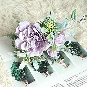 SELCRAFT 1Bouquet Artificial Flowers Hydrangea Silk Bouquet Decoration Camellia Peony Rose Wedding Home Party Decor DIY Fake Flower