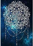 Pintar por Numeros Flor de mandala de yoga religiosa DIY Cuadro al óleo con números para Kit de Pintura al óleo Digital para Adultos y niños de Lienzo decoración para el hogar 40x50cm Sin Marco