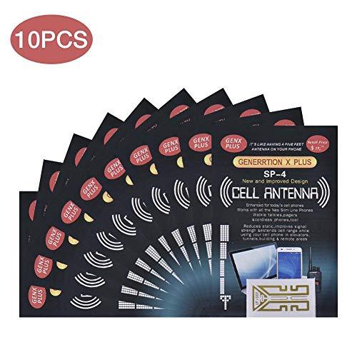 10 pegatinas de refuerzo de señal de teléfono celular - SP-4 pegatinas de refuerzo de teléfono celular - Amplificador de antena móvil para radios bidireccionales, walkie talkies, beepers
