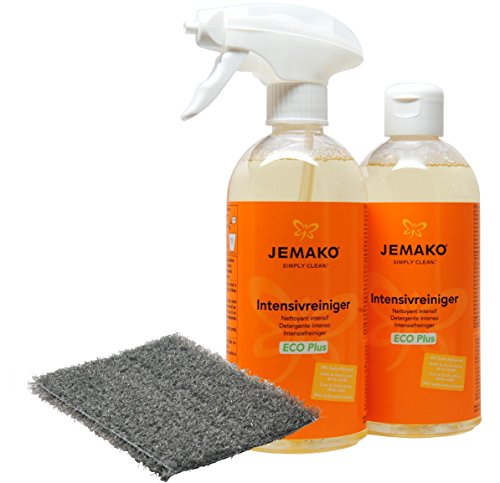 JEMAKO Intensivreiniger Eco Plus Set 2 x 500 ml DuoPad graue Faser Sprühpumpe