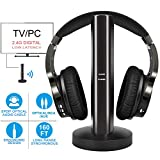 Best RCA Headphone Wirelesses - Wireless TV Headphones with 2.4G Digital RF Transmitter Review