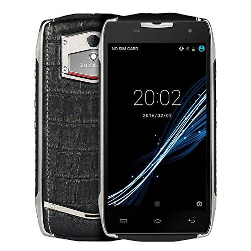 Téléphone robuste, DOOGEE T5 IP67 étanche Smartphone - WCDMA 3G 4G / LTE FDD Android 6.0 - Tough Mobile extérieur avec 4500mAh batterie - 3 Go de RAM + ROM de 32 Go - 5MP + 13MP Caméras - Double Apparence