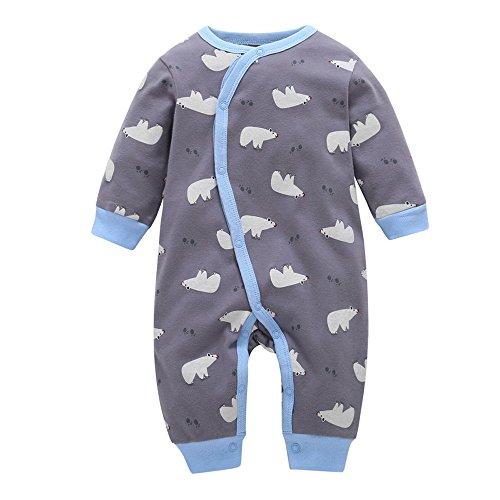 Mono Bebé, LANSKIRT Ropa de Recién Nacido Bebé Niño Niña Manga Larga Impresión del Oso Ropa de Traje de Mono