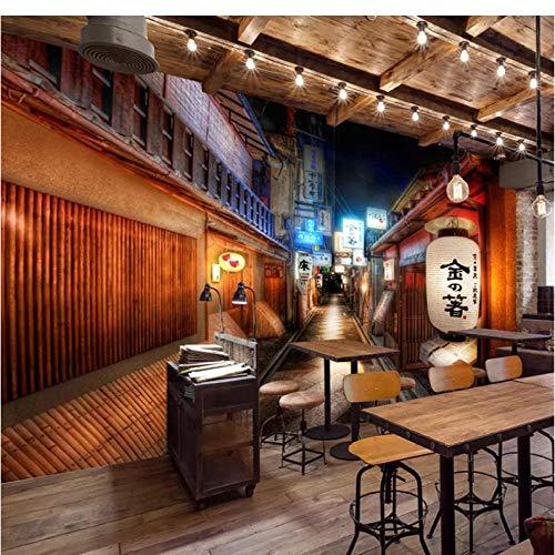 Wuyii Wandschilderij, personaliseerbaar, retro-stijl, Japanse stijl, restaurant sushi tent, achtergrond wandbehang, decoratie voor de muur 280 x 200 cm