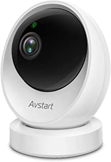 Pet Camera - AVstart 1080P Home Security Camera w/ 360° Panoramic Navigation, Sharp Night Vision, Motion Detection & Two-Way Audio, 2.4Ghz WiFi Baby Dog Camera with Cloud Storage & MicroSD Slot