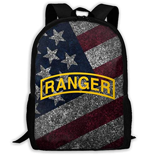 Hdadwy Us Army Retro Ranger Tab Unisex Waterproof 3D Knapsack Adult Packsack 17in