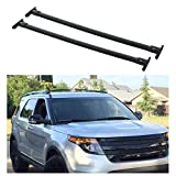 AUXMART Roof Racks Cross Bars 2pcs OE Style Aluminum Rooftop Rail Bars Cargo Carrier Fit for 2011-2015 Ford Explorer Black