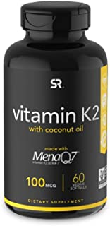 Vitamin K2 (as MK7) with Organic Coconut Oil   Made with MenaQ7 from Fermented Chickpea  ..