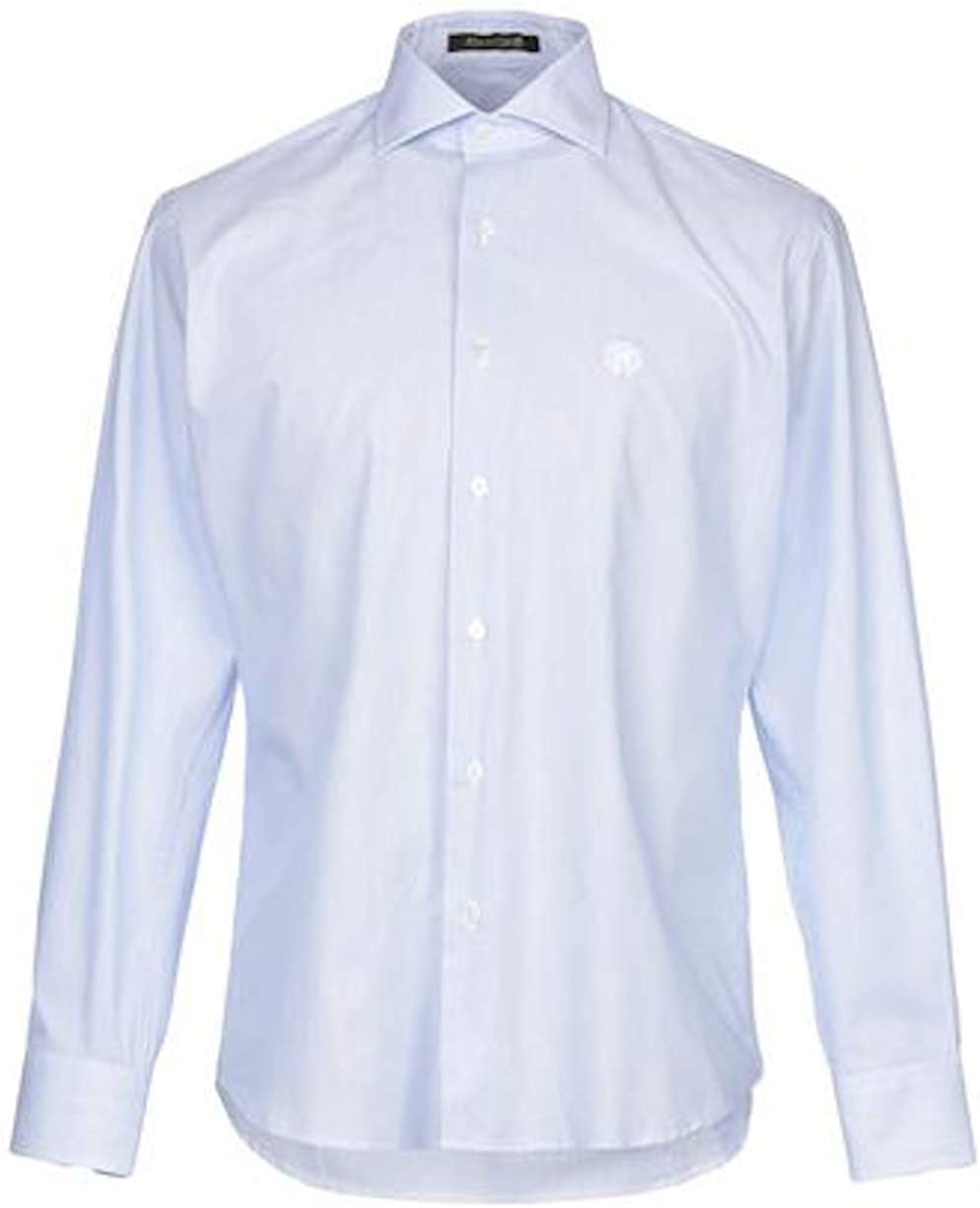 ROBERTO CAVALLI Camicia Blue Stripe Slim Fit Dress Shirt 16 1/2 (42)