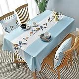 Family Life Equipment Mantel Mantel rectangular de moda Algodón y lino Impermeable y desbordamiento - Cubierta de mesa de tela decorativa para uso en interiores y exteriores (Color: 164 Tamaño: 164