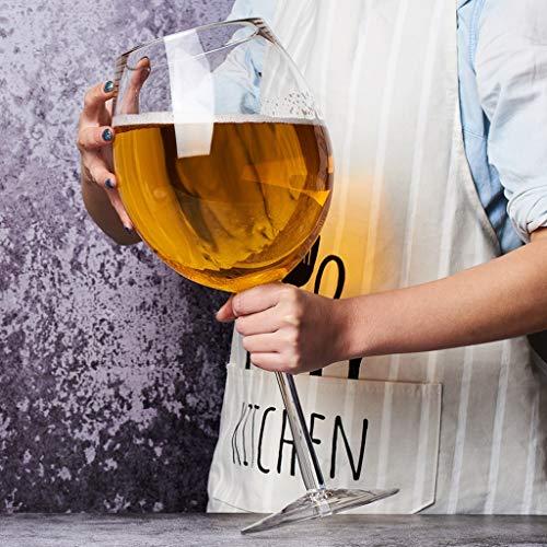 Copa de vino Gigante de Gran tamaño de Cristal Vino Tinto Copa de Cristal Extra Grande 3000ml Proyecto de Cerveza de Cristal Rojo Grande Gran Capacidad HMLIFE (Color : A)