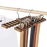 Liumei organizzatore con 10 slot per cravatte/cinture/sciarpe, in plastica robusta, salvas...