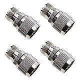4 conectores de conversor adaptador coaxial RF macho a UHF SO239 hembra para antenas periféricas LAN inalámbricas, radios WiFi